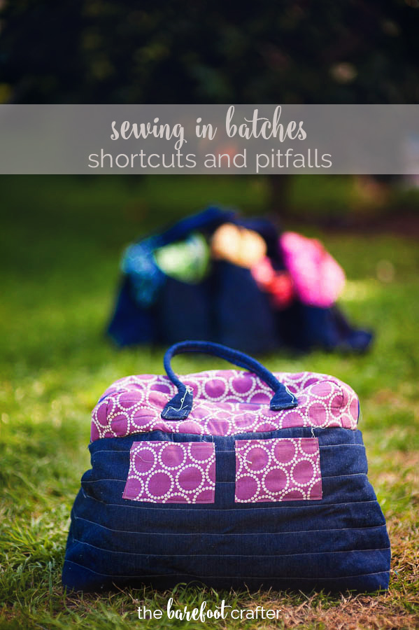 short cuts to take (and pitfalls to avoid!) when sewing a batch of items